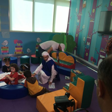 "Abu Dhabi Media Filming at the ""Wanna Read?"" Rooms for Ghars Zayed TV Show"